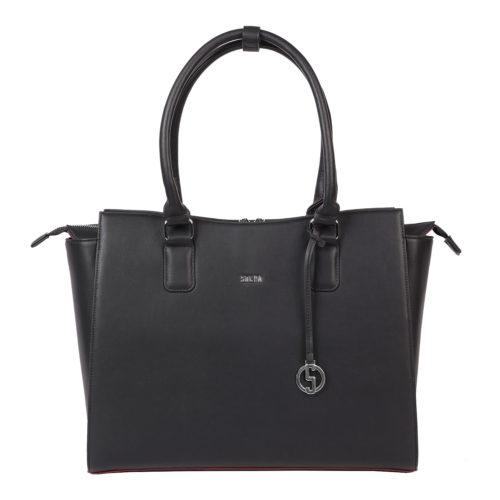 Businesstasche Damen - Modell Caddy Nero - Designertasche 15.6 Zoll
