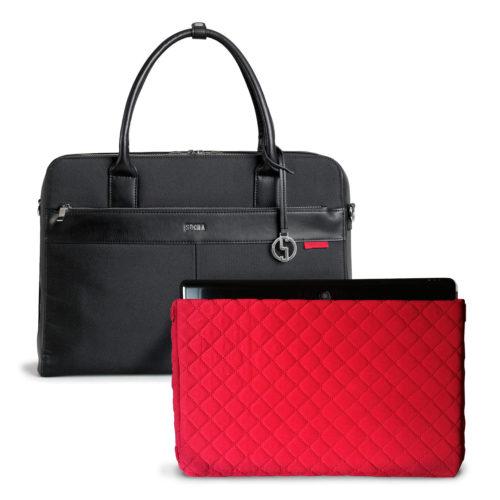 socha business bag casual black 17.3 inch