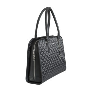 damen laptoptasche black diamond mit edler Steppung