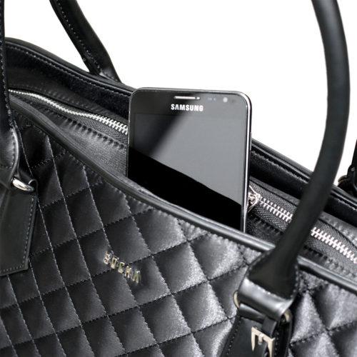 damen laptoptasche black diamond mit Geheimfächern