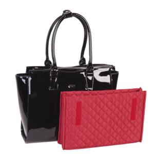 """Businesstasche von Socha Design Black Mirror, elegante Businesstasche in tiefschwarzem Hochglanz bis 15.6"""""""