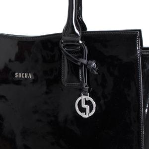 socha businesstasche black mirror metalllogo