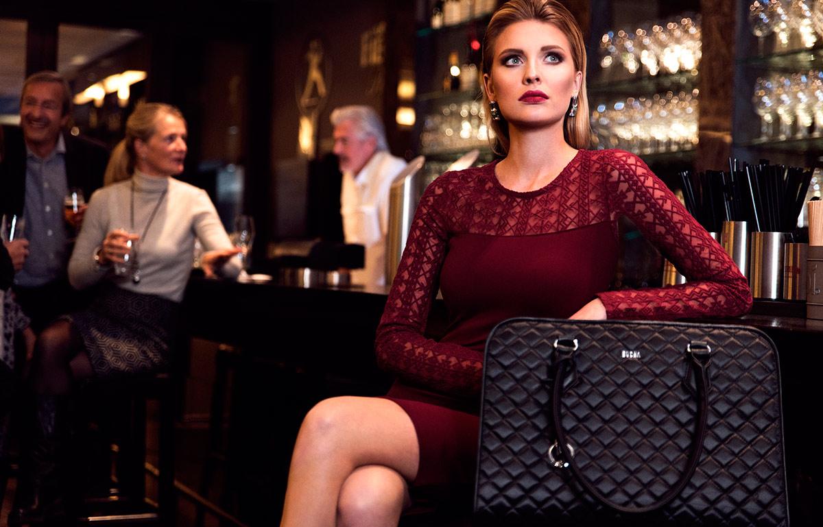 socha Businesstasche black diamond mit eleganter steppung