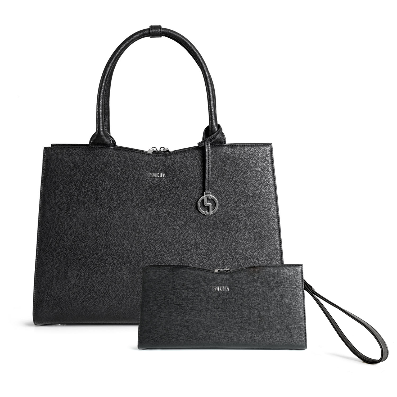 socha clutch bag black
