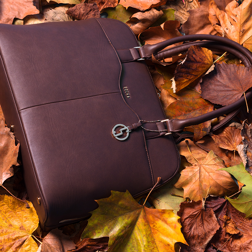 elegante businesstasche damen couture brun