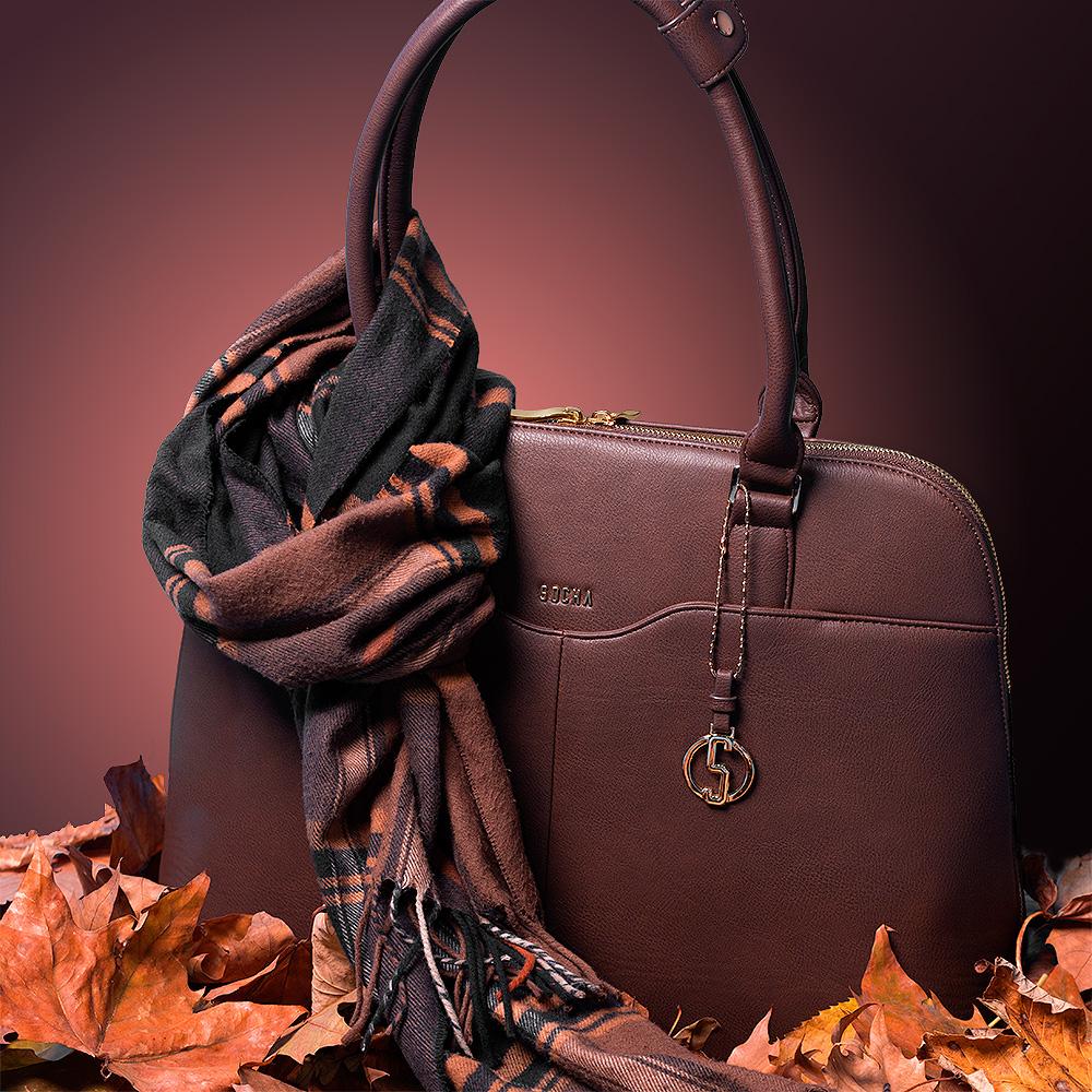 businesstasche damen couture brun