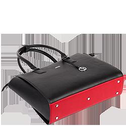 Businesstasche caddy nero mit rotem Boden