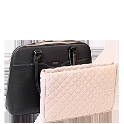 couture noir businesstasche mit herausnehmbarem Laptopfach