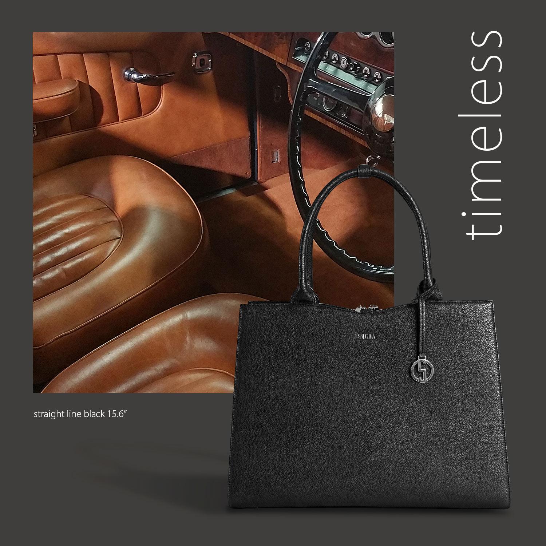 socha business bag straight line black 15.6 zoll