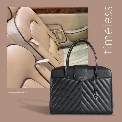 """Inspirationen von der Oldtimer-Messe """"Techno Classica"""" - socha businesstasche soft quilted black 15.6 zoll"""