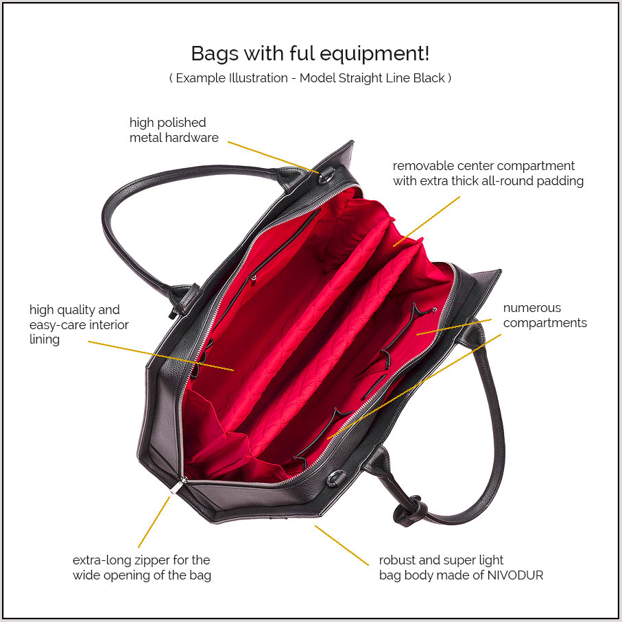 c057cd19b62 Laptop bags for women - elegant   extra light - designs made in Germany