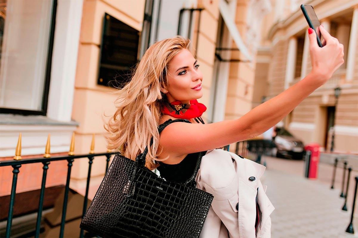 businesstasche von socha für damen modell croco black
