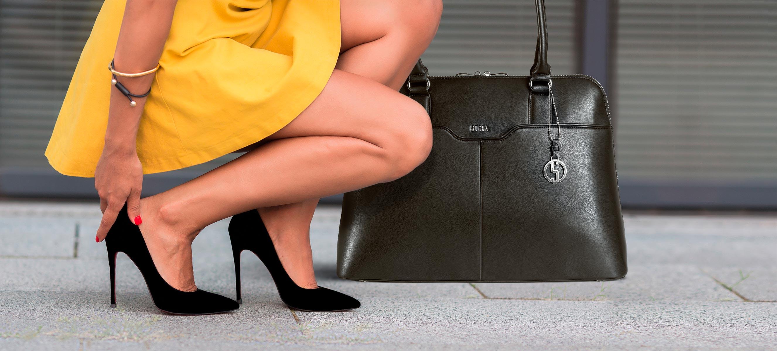 businesstasche socha für damen modell couture noir