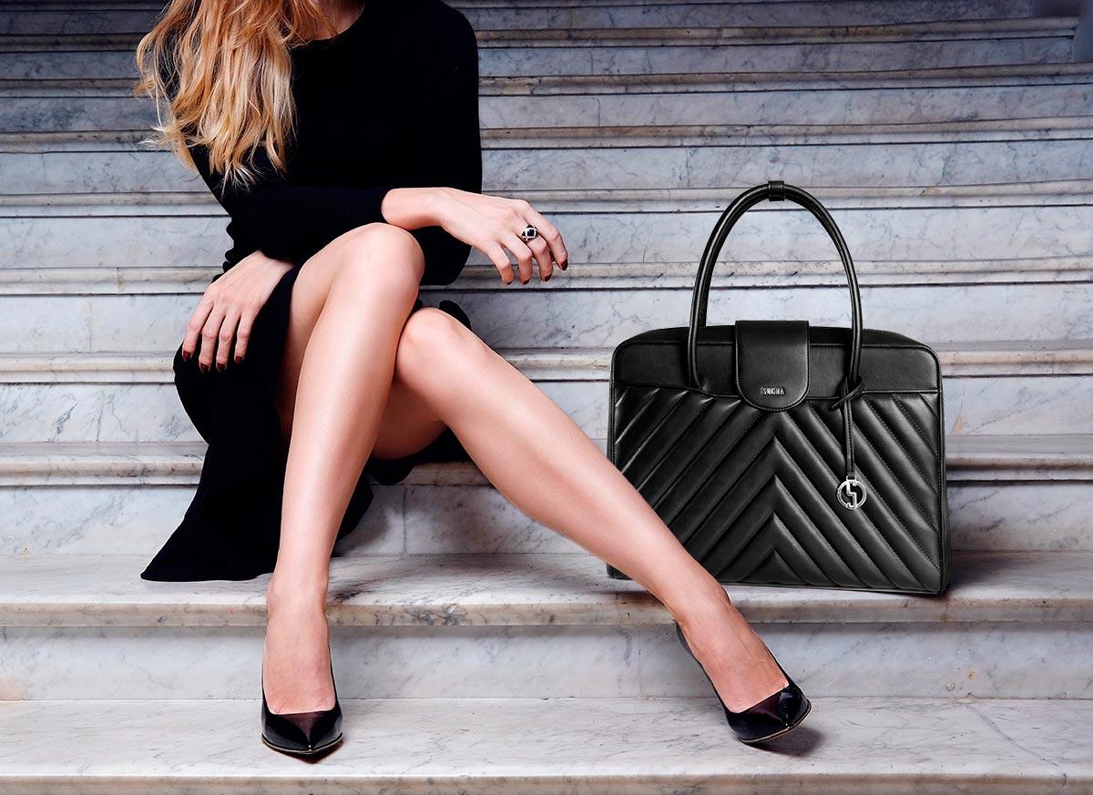 luxus damen businesstasche von socha modell soft quilted