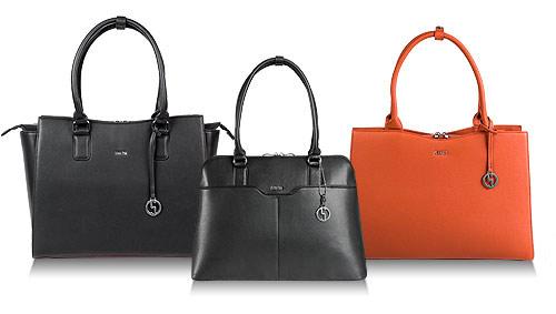 socha businesstasche damen, schwarz und cognac