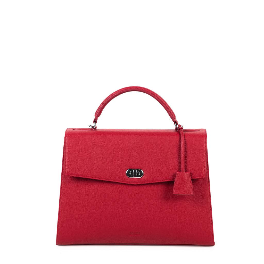 audrey business bag socha cherry red