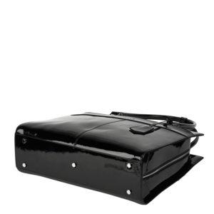 socha elegante designertasche iconic mirror hermes design hochglanz schwarz