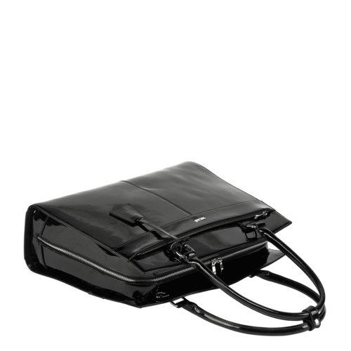socha elegante damen businesstasche iconic mirror hermes design hochglanz schwarz
