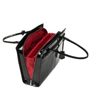 socha elegante businesstasche iconic mirror hermes design hochglanz schwarz