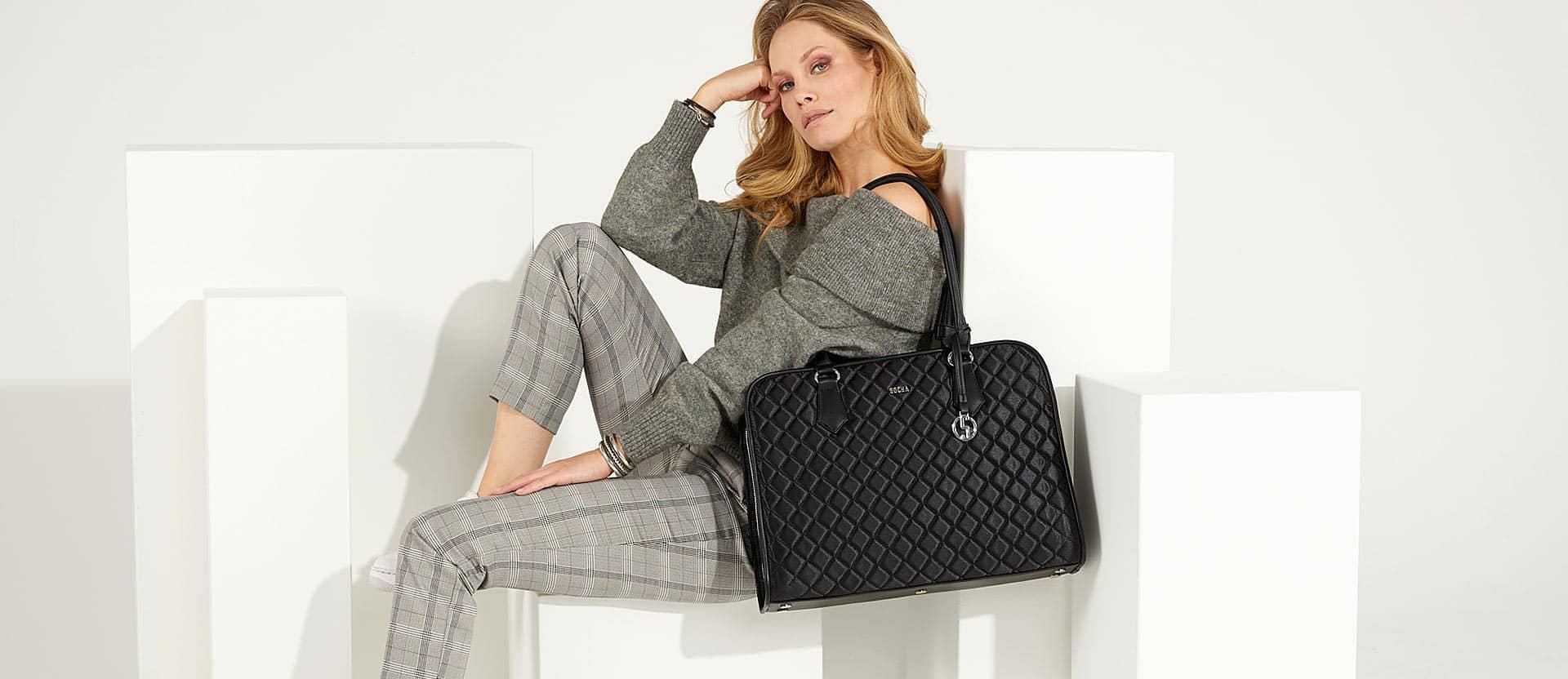 model mit edler black diamond businesstasche von socha
