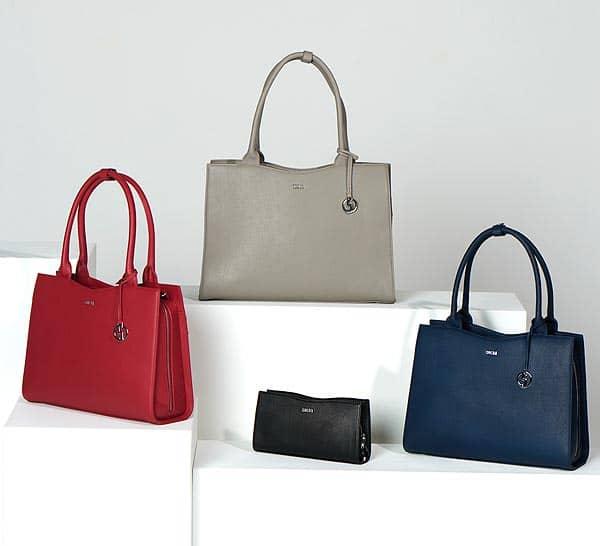 klassisch elegante businesstaschen von socha mit clutch