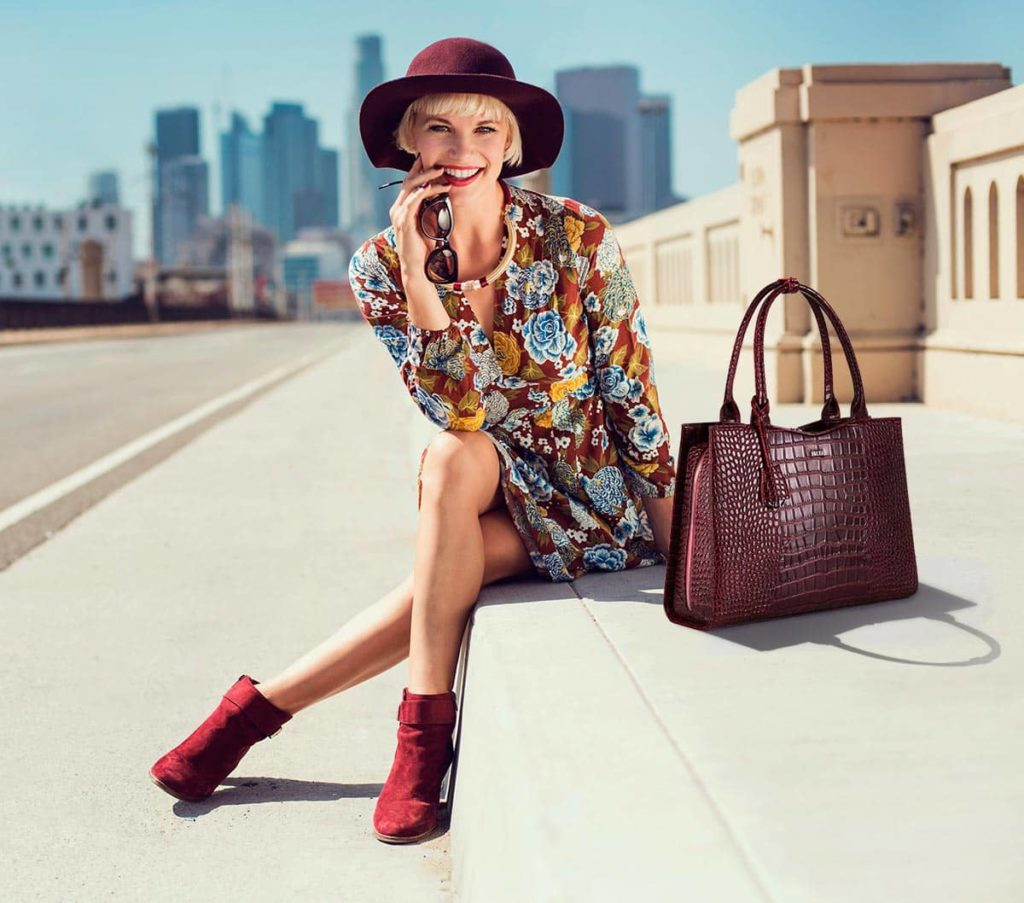 elegante laptoptasche von socha für damen 15 zoll design croco burgundy